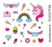 fashion patch badges with a... | Shutterstock .eps vector #512327938