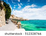 coast of ortigia island at city ... | Shutterstock . vector #512328766