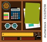 bookkeeper vector illustration... | Shutterstock .eps vector #512329258