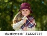 beautiful girl in a burgundy...   Shutterstock . vector #512329384