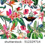 seamless tropical paradise... | Shutterstock . vector #512329714
