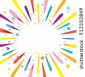 burst explosion banner with... | Shutterstock .eps vector #512332849