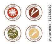 set of herbs labels. 100...   Shutterstock .eps vector #512333380