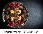 assorted of chocolate and fruit ... | Shutterstock . vector #512334259