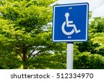 Blue Handicapped Sign In The...