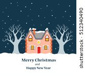 vector christmas card with a... | Shutterstock .eps vector #512340490