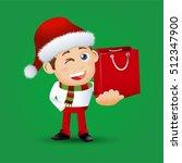 people set   santa claus  ...   Shutterstock .eps vector #512347900