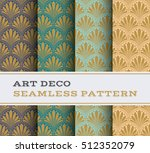 art deco seamless pattern with... | Shutterstock .eps vector #512352079