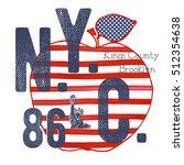 t shirt typography design  nyc... | Shutterstock .eps vector #512354638