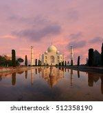 Nobody Present As Taj Mahal...