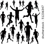 runners vector | Shutterstock .eps vector #51236347