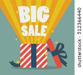 big sale with a christmas gift... | Shutterstock .eps vector #512366440