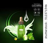 collagen cucumber extract serum ... | Shutterstock .eps vector #512371546