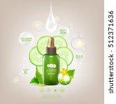 collagen cucumber extract serum ... | Shutterstock .eps vector #512371636