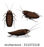 cute cockroach poses cartoon... | Shutterstock .eps vector #512372218