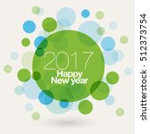 vector 2017 happy new year... | Shutterstock .eps vector #512373754