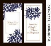 romantic invitation. wedding ... | Shutterstock . vector #512374660