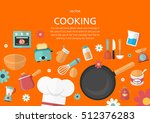 cooking concept in flat design... | Shutterstock .eps vector #512376283