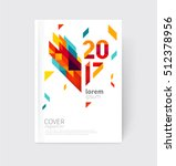 white modern business brochure  ... | Shutterstock .eps vector #512378956
