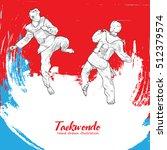 taekwondo background design.... | Shutterstock .eps vector #512379574