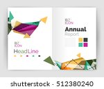 triangle abstract background.... | Shutterstock .eps vector #512380240