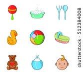 child icons set. cartoon... | Shutterstock .eps vector #512384008