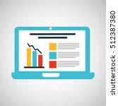 cartoon laptop statistic... | Shutterstock .eps vector #512387380