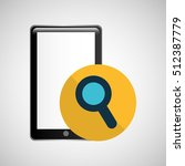 smartphone black search graphic ... | Shutterstock .eps vector #512387779
