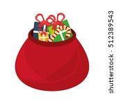 Christmas Bag Gifts Isolated...