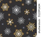 gold and silver snowflakes on... | Shutterstock .eps vector #512391634