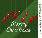 merry christmas card icon... | Shutterstock .eps vector #512394724