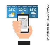 weather app technology icon... | Shutterstock .eps vector #512399920