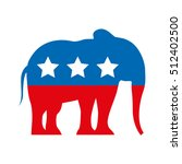 republican party emblem... | Shutterstock .eps vector #512402500