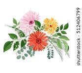 beautiful watercolour floral... | Shutterstock . vector #512406799