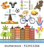 netherland flat icons design... | Shutterstock .eps vector #512411266