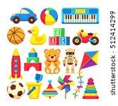 cartoon children toys vector... | Shutterstock .eps vector #512414299