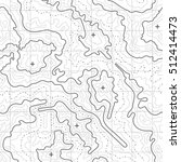 Topographic map vector background with mountain texture and grid.