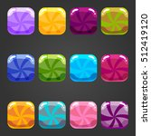 sweet  cartoon user interface....   Shutterstock . vector #512419120