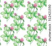 seamless pattern summer meadow... | Shutterstock . vector #512421550