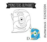 Coloring Page Monsters Alphabe...