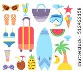 world travel. vacations. summer ...   Shutterstock .eps vector #512423158
