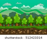 cartoon forest seamless...