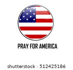 usa flag circle bubbles of... | Shutterstock .eps vector #512425186
