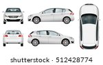 Car Vector Template On White...