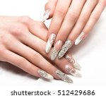 beautifil wedding manicure for... | Shutterstock . vector #512429686