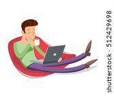 cartoon vintage geek eager... | Shutterstock .eps vector #512429698