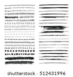 set of hand drawn line borders  ... | Shutterstock .eps vector #512431996