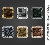set of shiny stone  square...