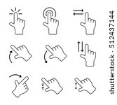 touch gesture vector icons | Shutterstock .eps vector #512437144