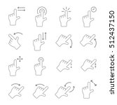 touch gesture vector icons   Shutterstock .eps vector #512437150